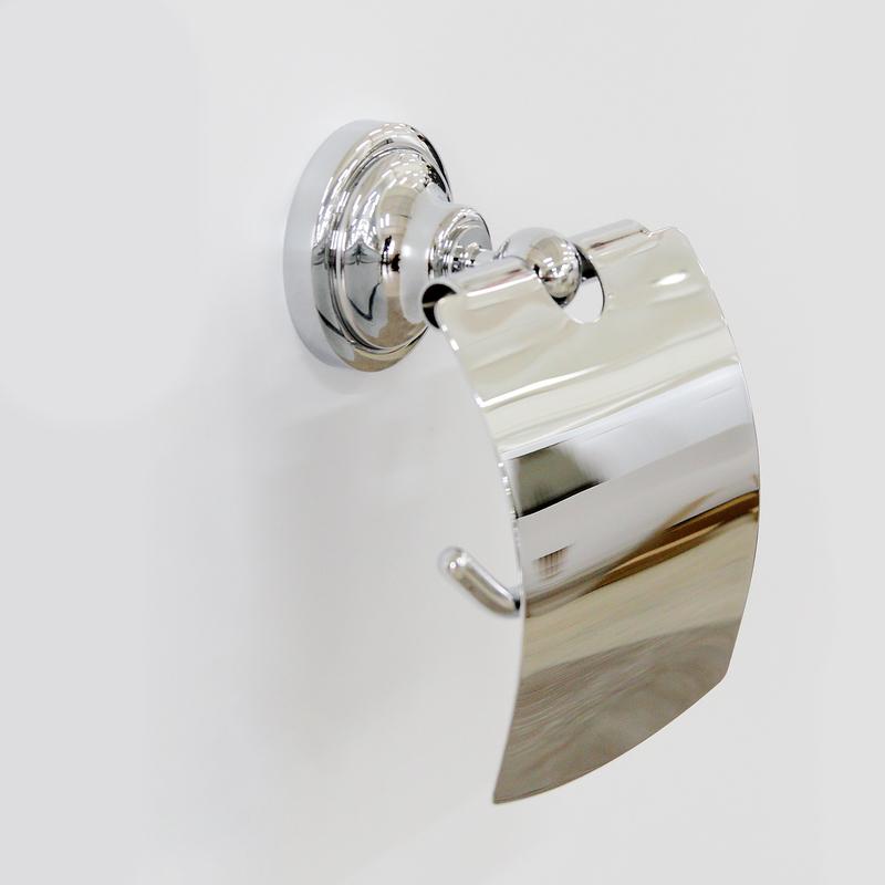 Настенный держатель туалетной бумаги Грета Chrome